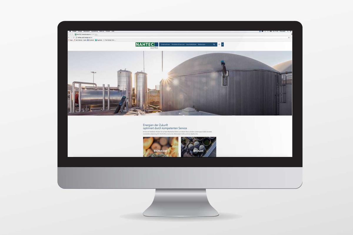 Nahtec-Homepage
